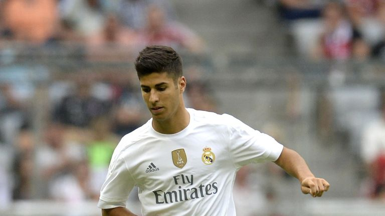Marco Asensio featured for Real Madrid during pre-season