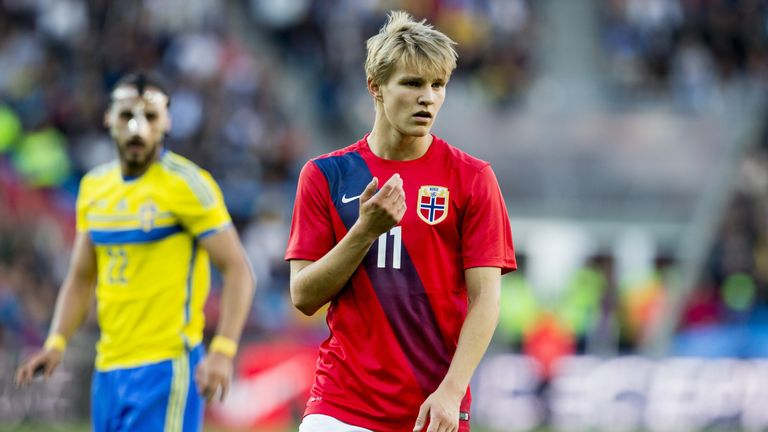 Martin Odegaard reacts during the international friendly football match, Norway vs Sweden at the Ullevaal Stadium, in Oslo, Norway on June, 8, 2015