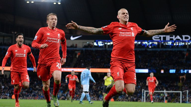 Liverpool's Martin Skrtel (R) celebrates