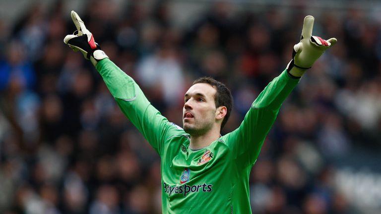 Marton Fulop celebrates while playing for Sunderland