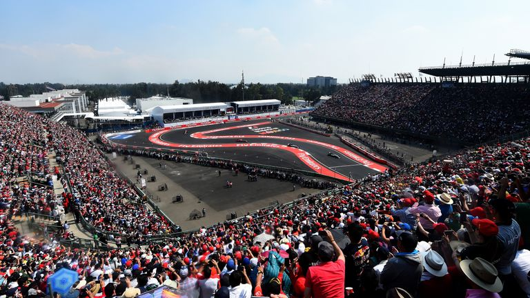 The new Mexican GP track incorporated a stadium section