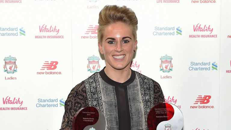 Dowie was a double winner at Liverpool Ladies' end of year awards after her final season at the club in 2015
