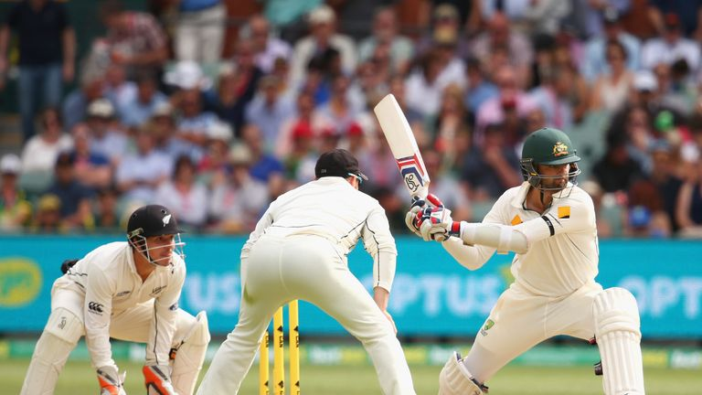 Nathan Lyon's 34 proved crucial as Australia won by three wickets