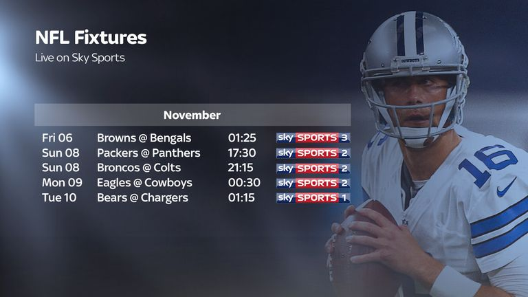 c9e04a7827b Chicago Bears   San Diego Chargers live on Sky Sports in Week 9 ...