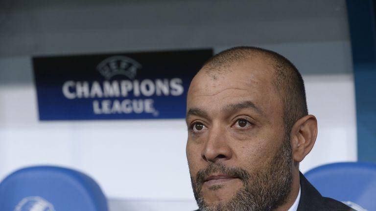Valencia's Portuguese coach Nuno Espirito Santo