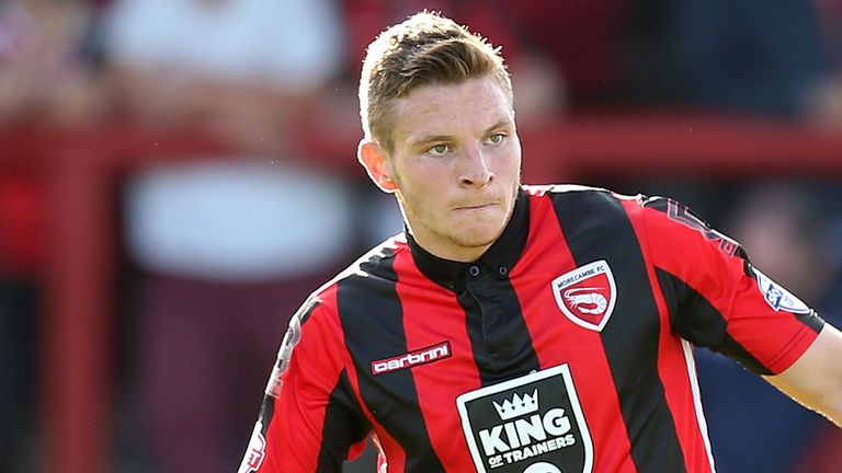 Paul Mullin scored the only goal of the game for Morecambe at Rochdale