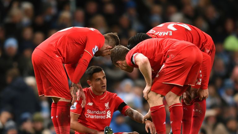 Philippe Coutinho was substituted after 63 minutes with hamstring tightness