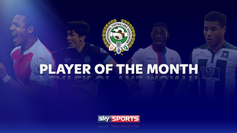 The October Player of the Month winners have been announced (left-right): Alexis Sanchez, Fernando Forestieri, Sullay Kaikai and Reuben Reid