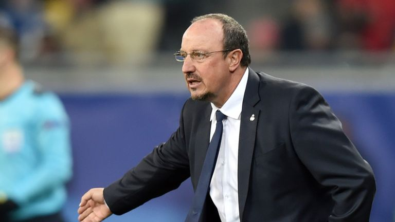 Real Madrid's Spanish coach Rafael Benitez