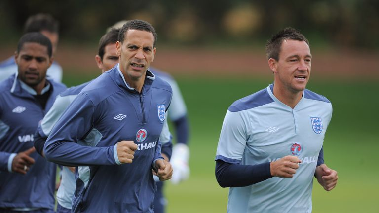 Rio Ferdinand and John Terry pictured during their England days