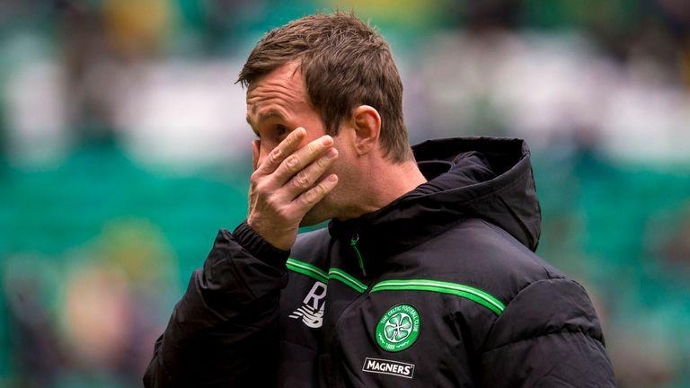 21/11/15 LADBROKES PREMIERSHIP  .CELTIC V KILMARNOCK.CELTIC PARK - GLASGOW .Celtic manager Ronny Deila
