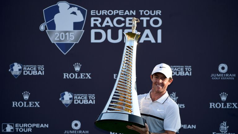Rory McIlroy ended his European Tour season with a narrow victory at the DP World Tour Championship