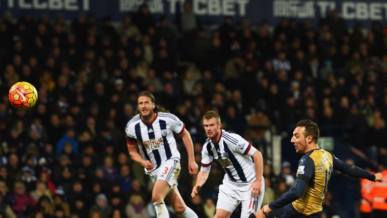 Santi Cazorla misses a penalty to level for Arsenal at West Brom