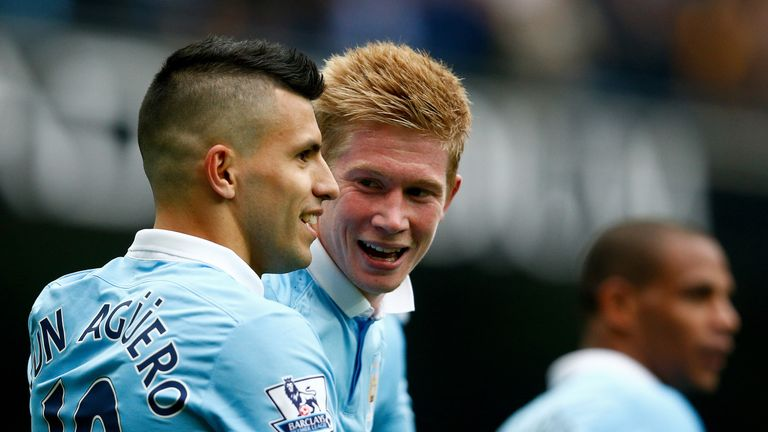Sergio Aguero has been impressed by Kevin De Bruyne's early contributions at Manchester City