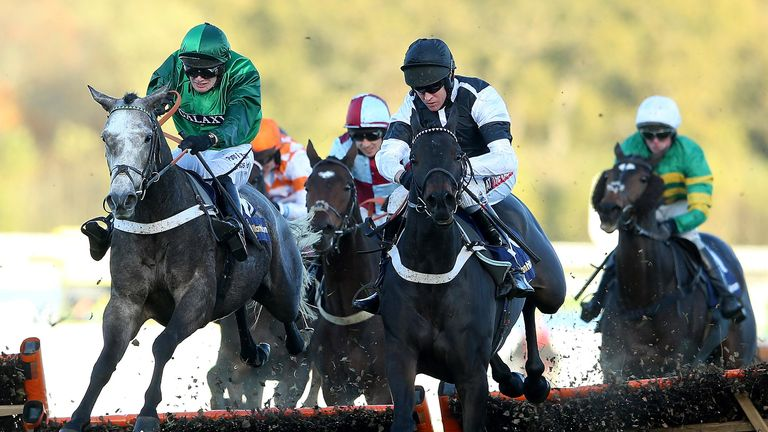 Barry Geraghty on Sign of Victory winning the William Handicap Hurdle at Ascot