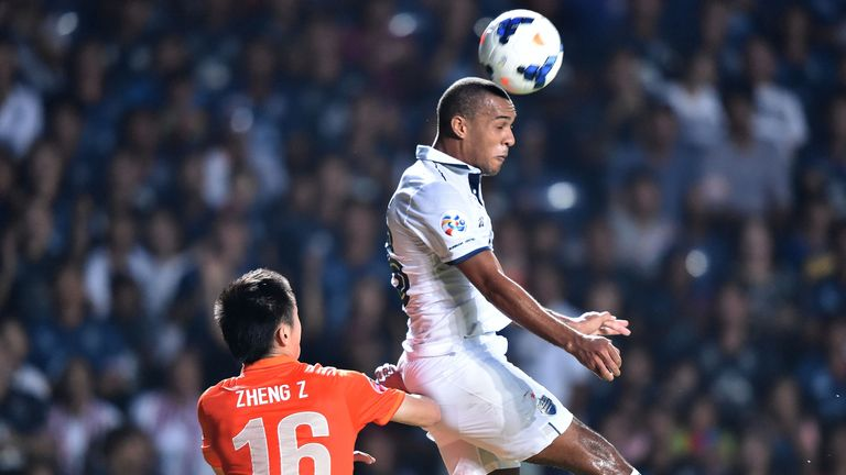 Simpson in action for Buriram United in April last year