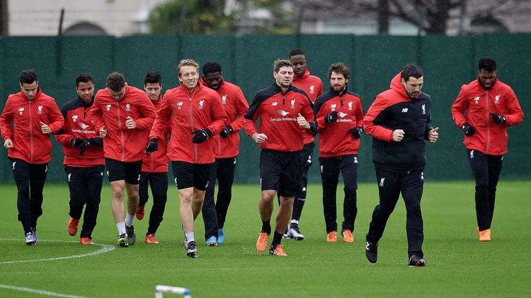 Gerrard puts in the hard yards at Melwood