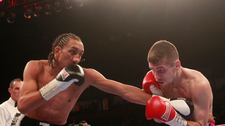 Tyrone Nurse (l) beat Chris Jenkins to claim the British super-lightweight title