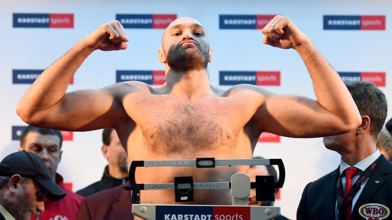 Tyson Fury weighed 17st 8lbs