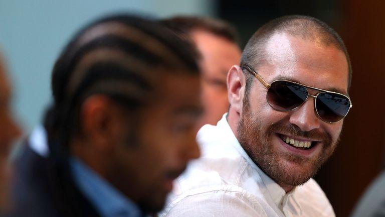 Tyson Fury (R) has criticised former world champion David Haye