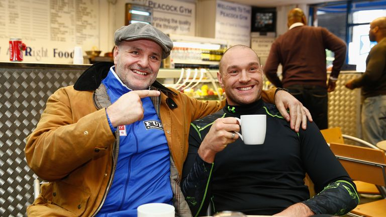 John Fury (left) boxed professionally and helped his son's progress