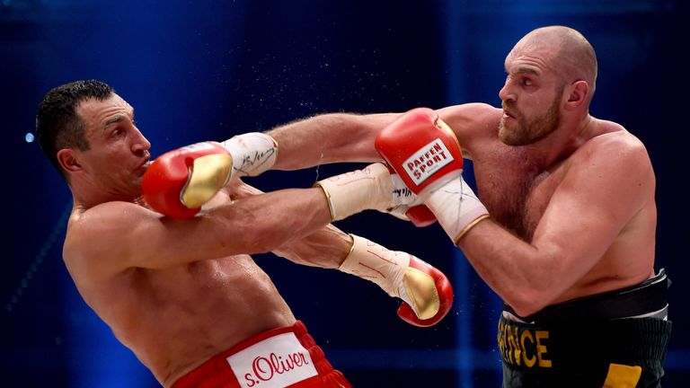 Tyson Fury squares off against Wladimir Klitschko