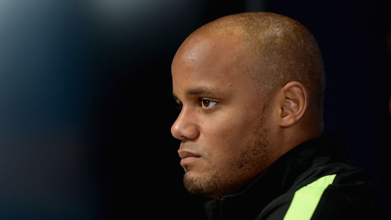 Manchester City captain Vincent Kompany missed the Liverpool defeat with calf injury.