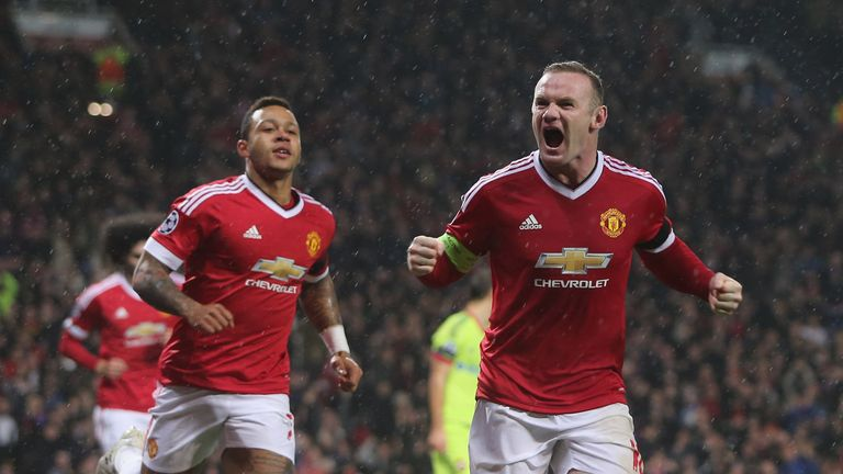 Wayne Rooney celebrates his winner against CSKA Moscow