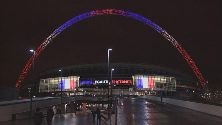 Wembley arch with French Tricolour