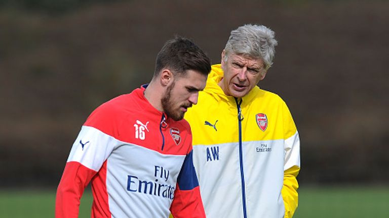 Aaron Ramsey has been the subject of a row over his injury between Arsene Wenger and Chris Coleman