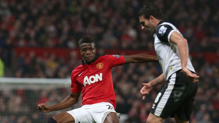 <<enter caption here>> at Old Trafford on October 29, 2013 in Manchester, England.