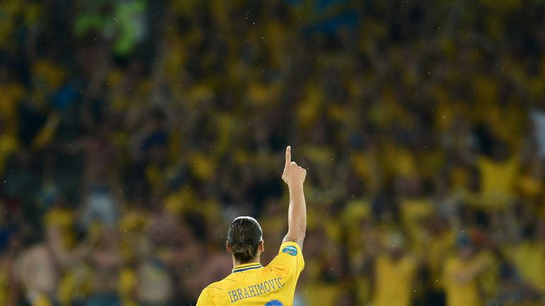 Ibrahimovic scored twice at Euro 2012 but Sweden fell at the groups stages