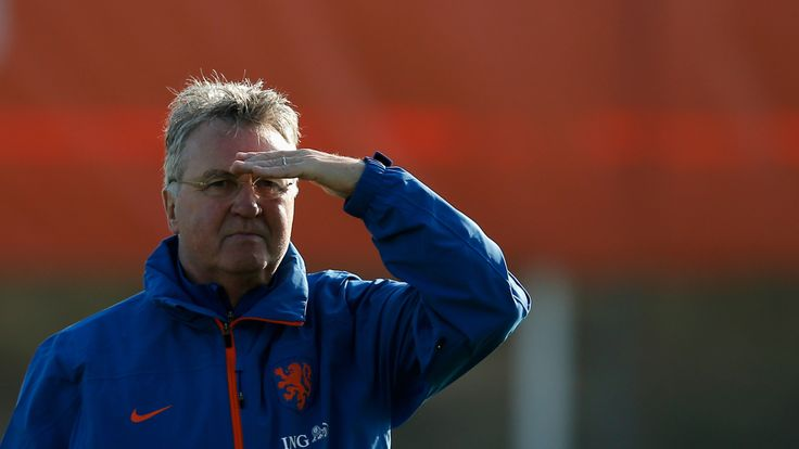 Guus Hiddink, Head Coach / Manager of the Netherlands looks on