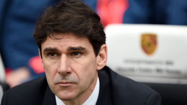Middlesbrough manager Aitor Karanka during the Sky Bet Championship match with Brighton