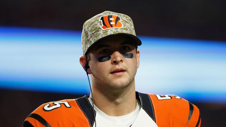 Bengals back-up QB AJ McCarron was a target for the Browns