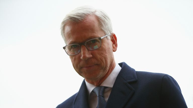 Crystal Palace manager Alan Pardew arrives at Dean Court for the match against Bournemouth