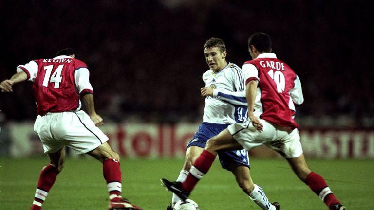 Garde in action for Arsenal against Andriy Shevchenko