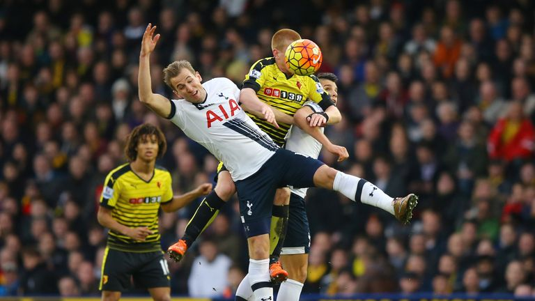 Harry Kane is looking for more goals against Watford