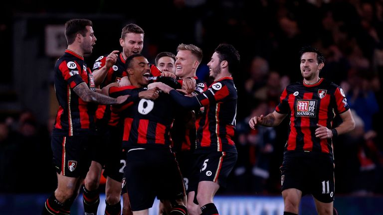 AFC Bournemouth's Junior Stanislas celebrates