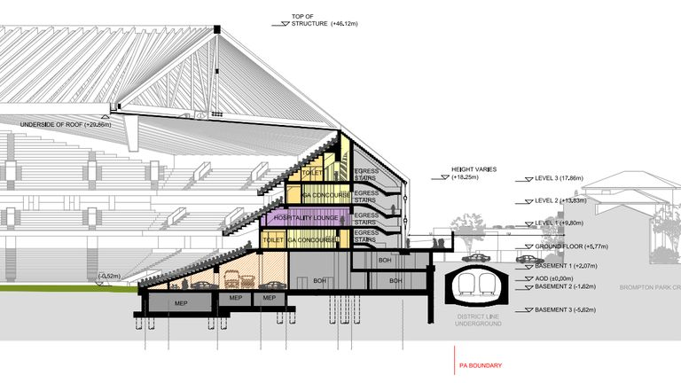 The new design works around the existing structure of Fulham Broadway Underground Station