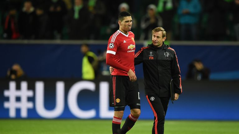 Smalling appeared to be in pain towards the end of Tuesday's match