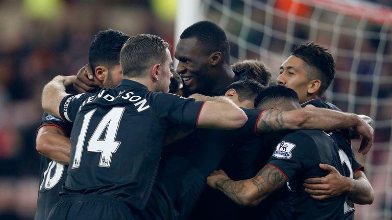 Liverpool's Christian Benteke celebrates