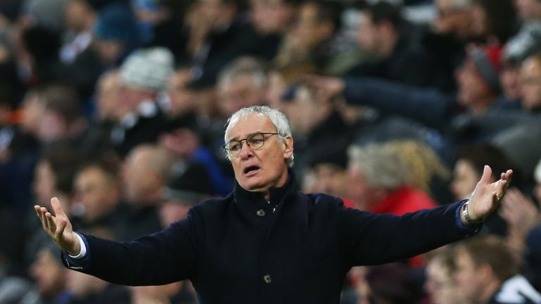 Claudio Ranieri of Leicester City reacts