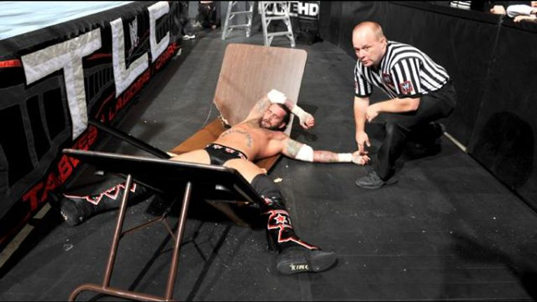Don't let this picture fool you - Punk was a master in TLC tussles
