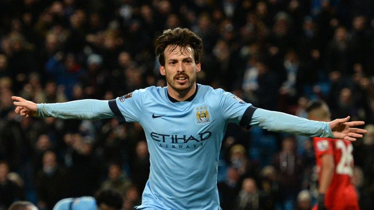 Manchester City's Spanish midfielder David Silva