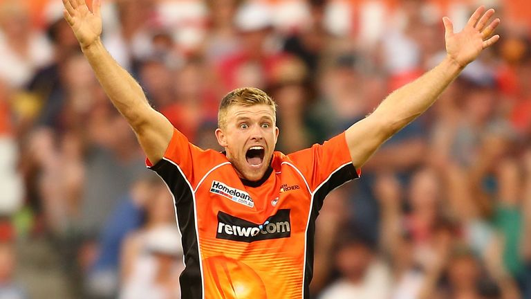 David Willey had a succesful spell with the Perth Scorchers in the Big Bash over the winter