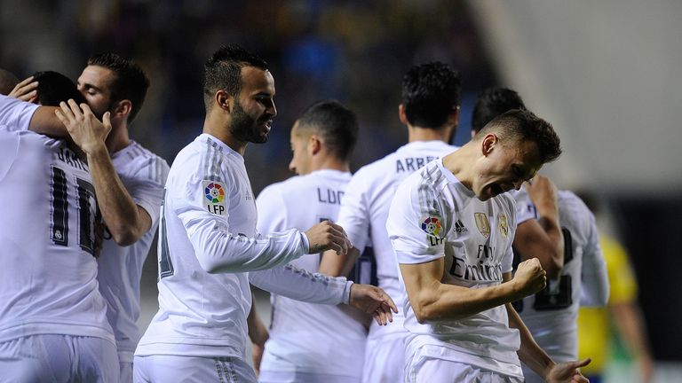 Cheryshev celebrates after giving Real the lead in the first leg of the tie