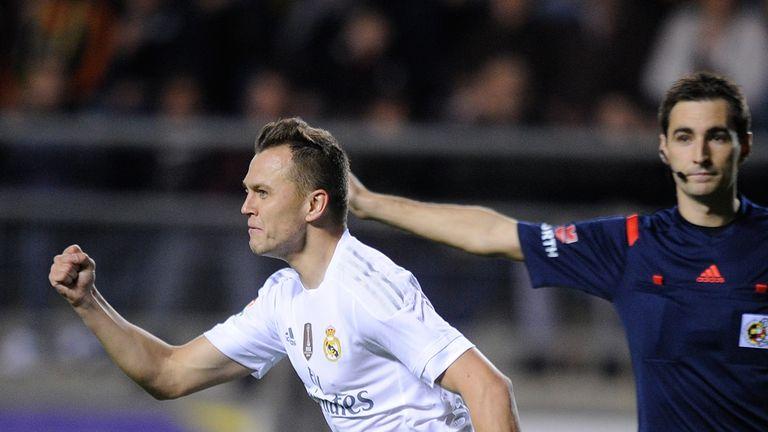 Denis Cheryshev of Real Madrid celebrates