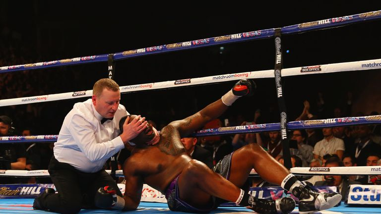 Whyte was knocked out in the seventh round of the heavyweight contest