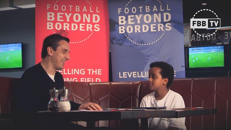 Gary Neville has previously got involved with FBB, which also helps young people learn media skills